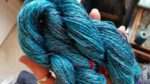 """Starry Night"" Bombyx Silk Handspun by Ann"